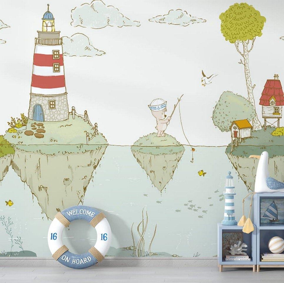 Lighthouse Children's Wallpaper