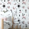 Sure to be adored by little ones, the Pastel Forest Children's Wallpaper is a fun addition to any nursery or playroom. Go on an adventure with our kid's wallpaper for children's rooms! A well-chosen pattern can visually enlarge the interior.