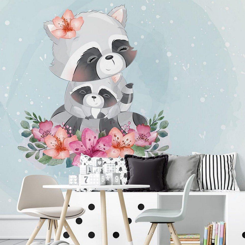 Raccoons Children's Wallpaper