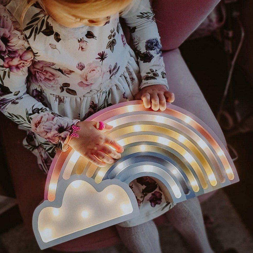 Rainbow Wooden Lamp for Children
