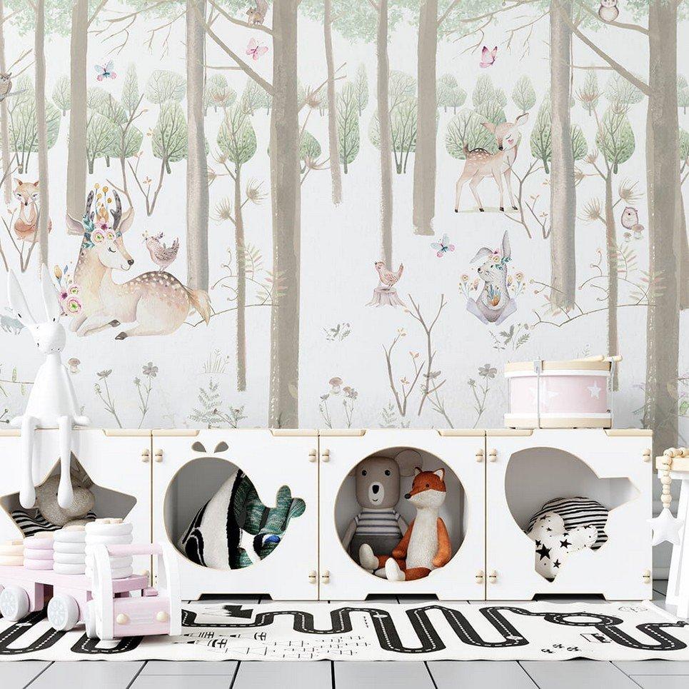 Snow Forest Children's Wallpaper