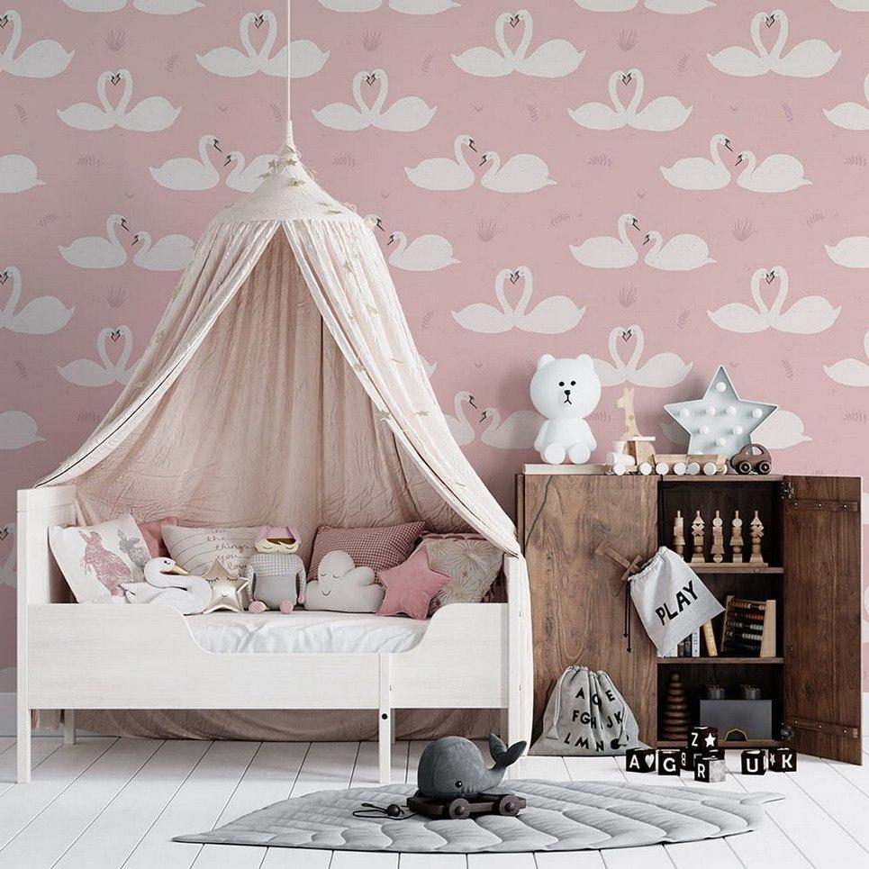 Swans Children's Wallpaper