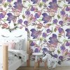 Sure to be adored by little ones, the Violet Magnolies Children's Wallpaper is a fun addition to any nursery or playroom. Go on an adventure with our kid's wallpaper for children's rooms! A well-chosen pattern can visually enlarge the interior.
