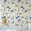 Sure to be adored by little ones, the Dinosaurs Alphabet Children's Wallpaper is a fun addition to any nursery or playroom. Go on an adventure with our kid's wallpaper for children's rooms! A well-chosen pattern can visually enlarge the interior.