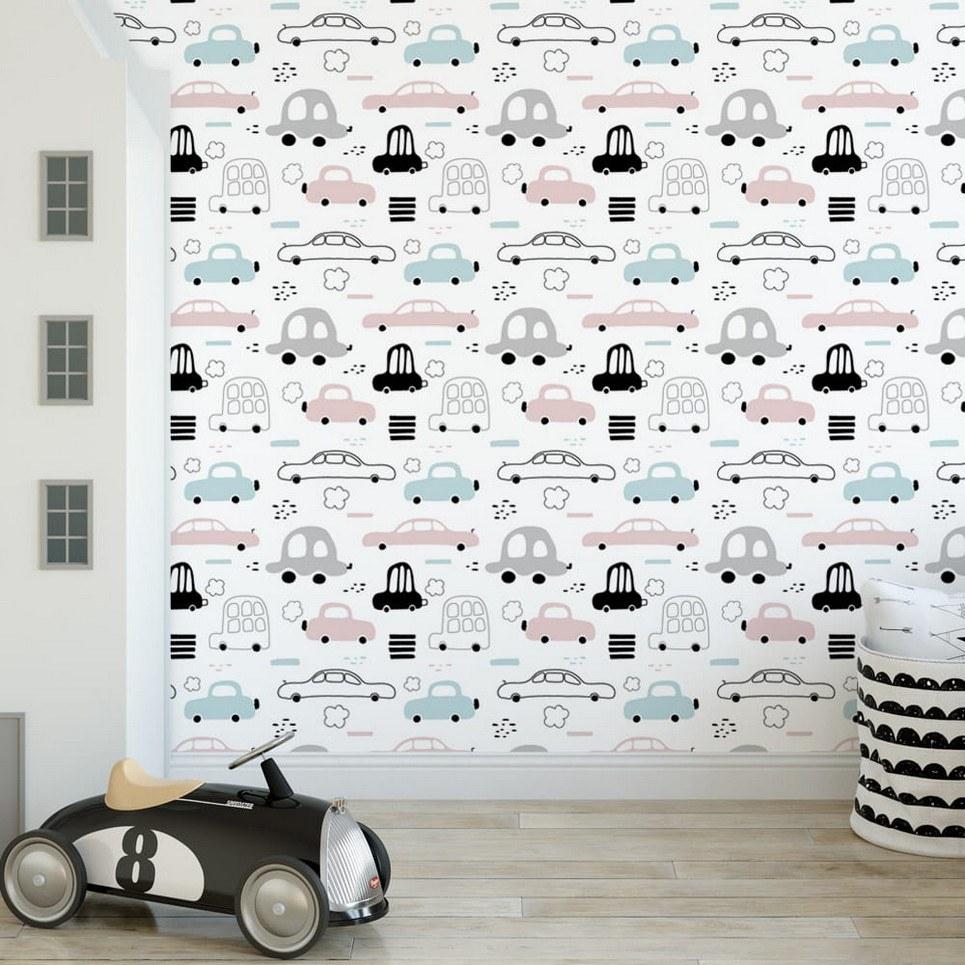 Retro Cars Children's Wallpaper