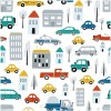 Sure to be adored by little ones, the Streets of the City 3 Children's Wallpaper is a fun addition to any nursery or playroom. Go on an adventure with our kid's wallpaper for children's rooms! A well-chosen pattern can visually enlarge the interior.