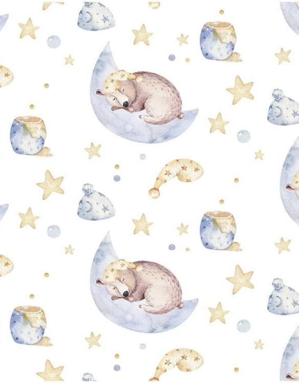 Sure to be adored by little ones, the Teddy Bear and Honey Sweet Sleepers Children's Wallpaper is a fun addition to any nursery or playroom. Go on an adventure with our kid's wallpaper for children's rooms! A well-chosen pattern can visually enlarge the interior.