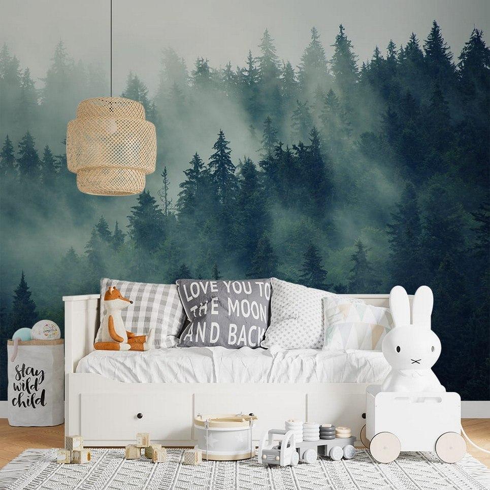 Forest In The Mist Children's Wallpaper