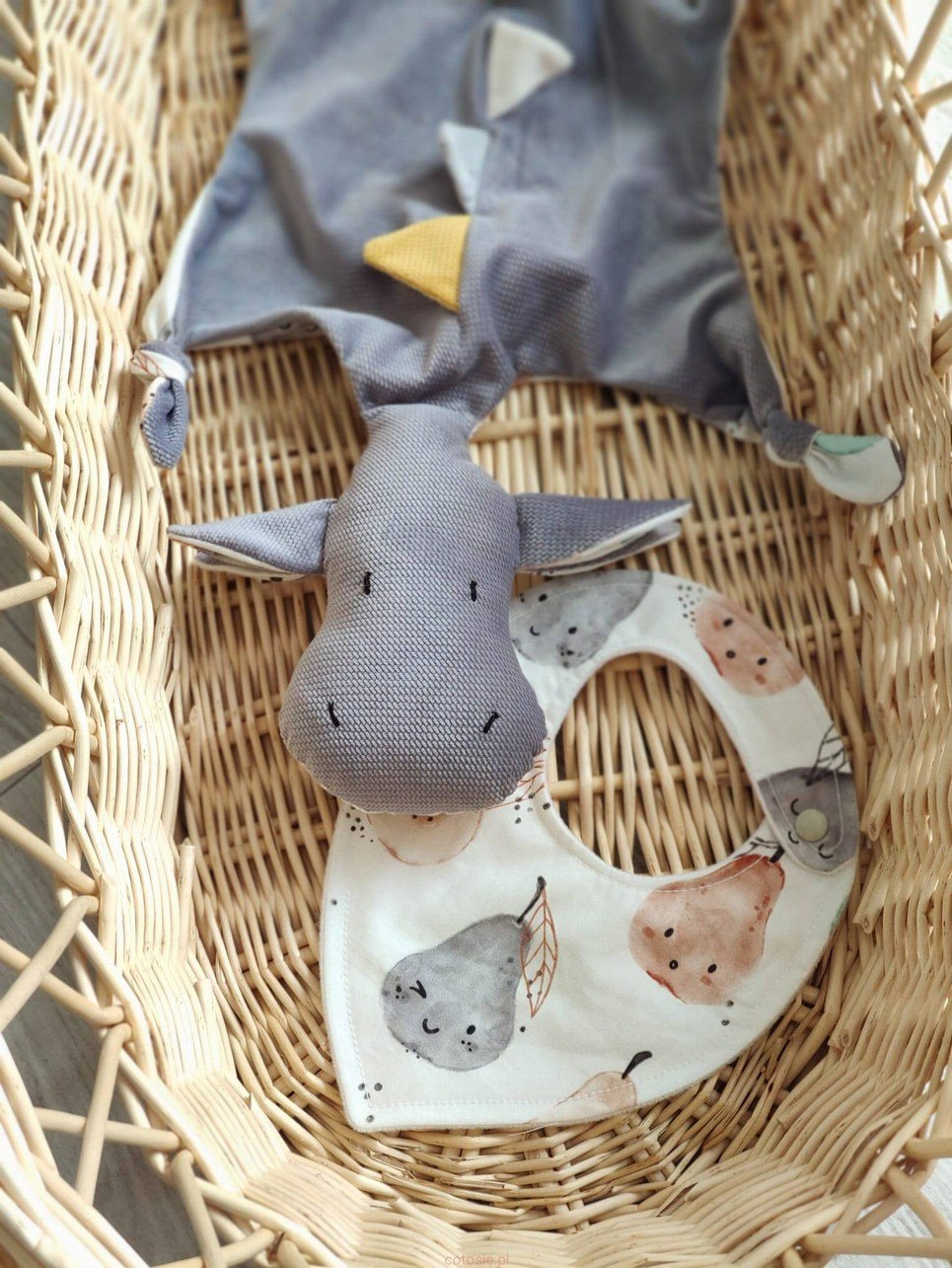 Gray Dragon Doudou Baby Comforter