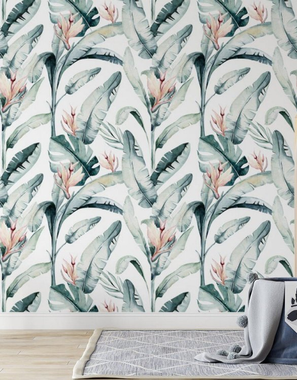 Sure to be adored by little ones, the Jungle and Friends 5 Children's Wallpaper is a fun addition to any nursery or playroom. Go on an adventure with our kid's wallpaper for children's rooms! A well-chosen pattern can visually enlarge the interior.