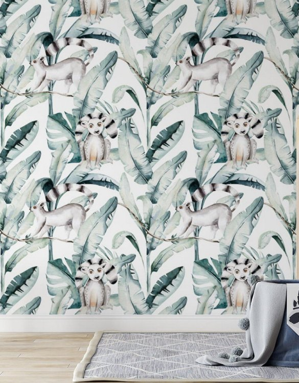 Sure to be adored by little ones, the Jungle and Friends 6 Children's Wallpaper is a fun addition to any nursery or playroom. Go on an adventure with our kid's wallpaper for children's rooms! A well-chosen pattern can visually enlarge the interior.