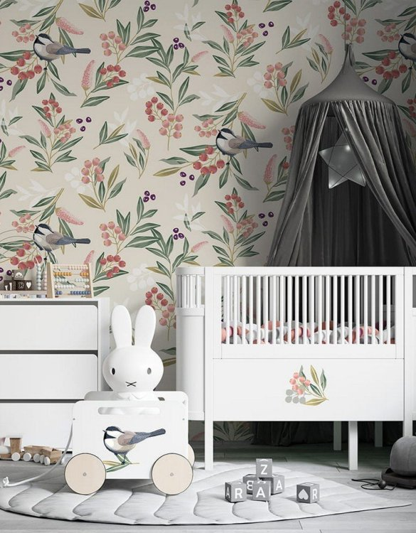 Sure to be adored by little ones, the Sparrows Children's Wallpaper is a fun addition to any nursery or playroom. Go on an adventure with our kid's wallpaper for children's rooms! A well-chosen pattern can visually enlarge the interior.