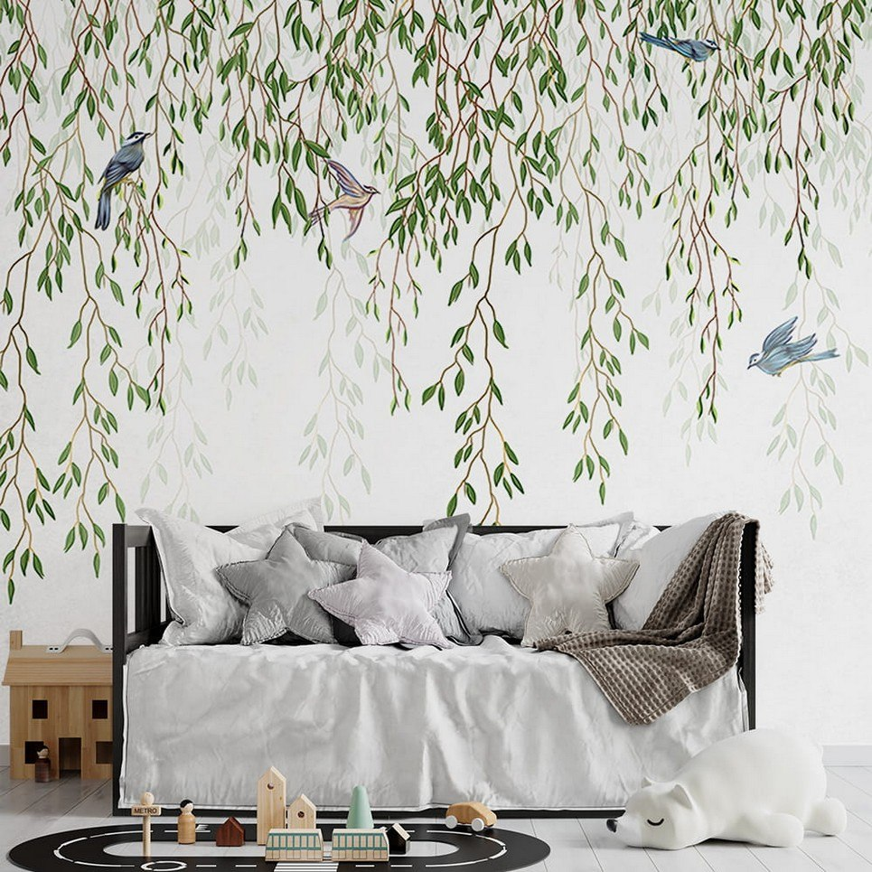 Spring Branches Children's Wallpaper