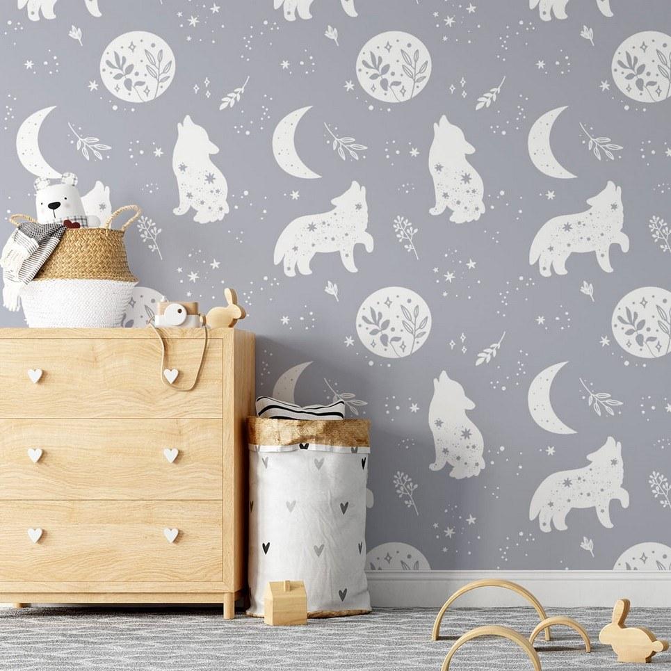 Wolves Children's Wallpaper