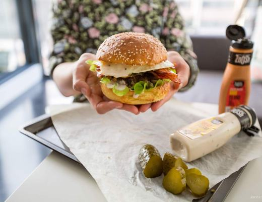 beautiful Polish burger