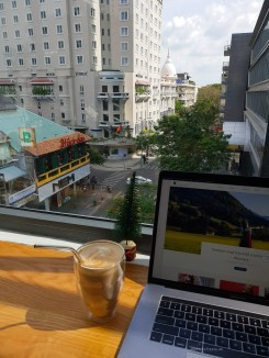 Infinity Cafe HCMC view