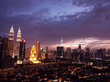 Kuala Lumpur sunset purple