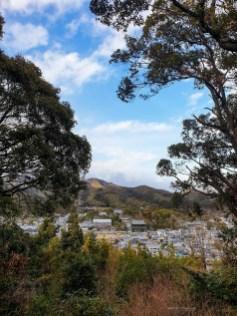 Narabigaoka hill Kyoto hike temple view