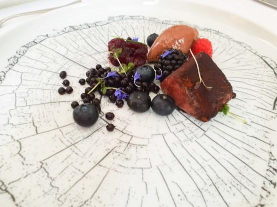 Pavillon fine dining brno venison berries chocolate