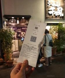 Ramen Sen no Kaze Kyoto line ticket