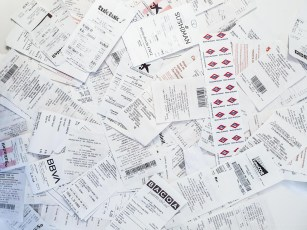 Shopping in Madrid - receipts