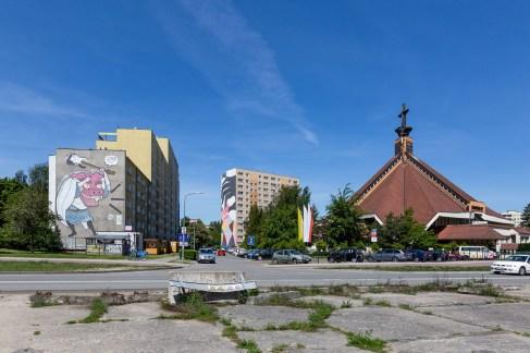 Street art in Gdansk - Zaspa ex airfield area