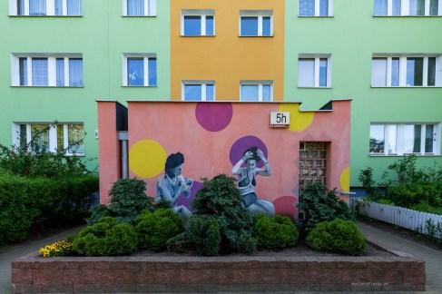 Street art in Gdansk - concrete condominiums makeover