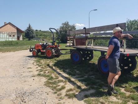Tractor vineyards south moravia Czech Republic ride