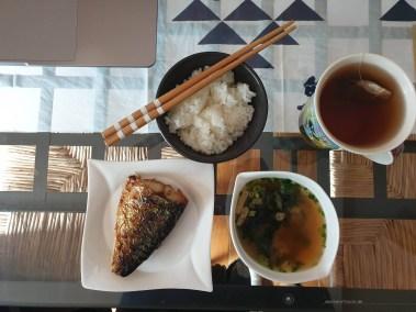 life in Kyoto breakfast fish