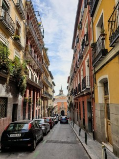 life in Madrid - our apartment street