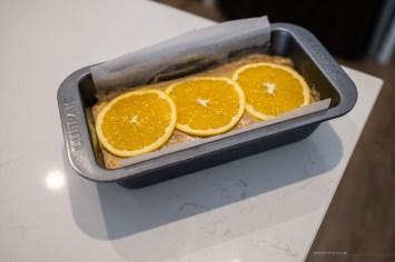 orange cardamom cake ready for baking