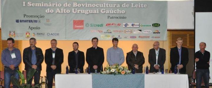 1º Seminário de Bovinocultura de Leite do Alto Uruguai reúne grande público