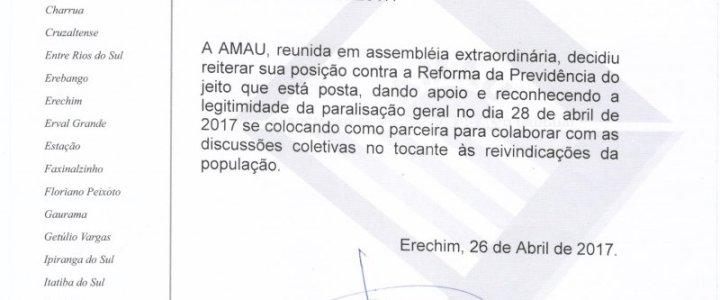 NOTA DA AMAU