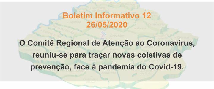 BOLETIM INFORMATIVO 12 – 26/05/2020