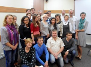 With participants of great workshop for activist and journalist held in Kyiv, Ukraine