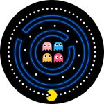 Pacman V2 – Amazfit Pace Watch Face – Animated Ghosts