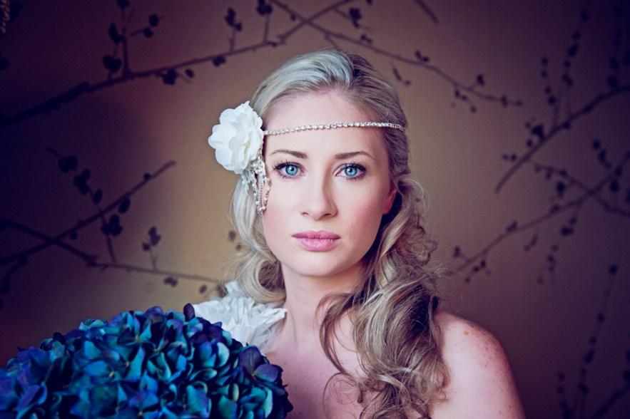 Blue Hydrangea Girl-Amazing Face-Ikonworks-Dorset