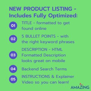New Product Listing By Amazing At Home Amazon Product Listing Optimization Services
