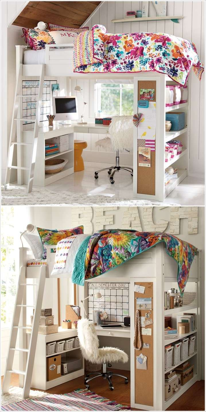 10 Clever Solutions for Small Space Teen Bedrooms on Teenager Beds For Small Rooms  id=35563