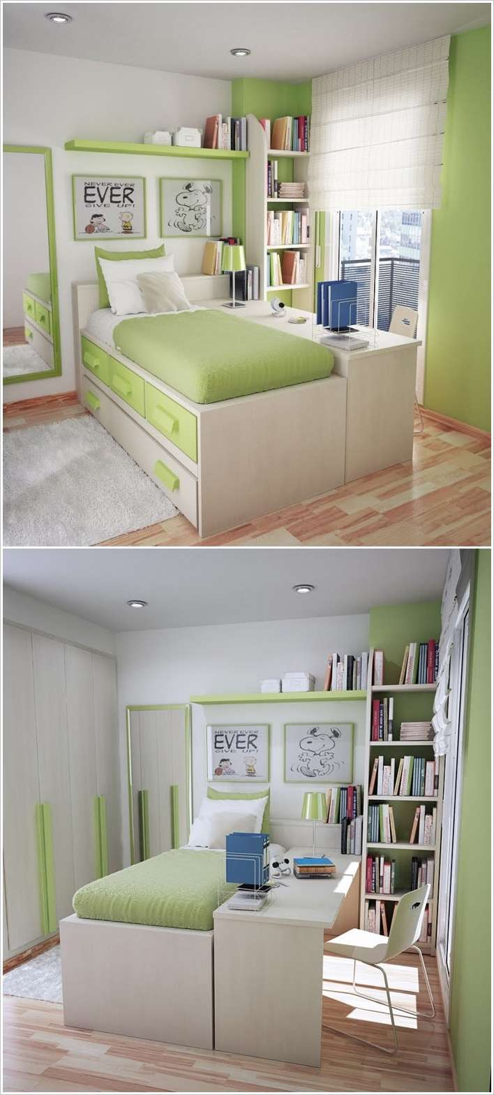 10 Clever Solutions for Small Space Teen Bedrooms on Girls Bedroom Ideas For Very Small Rooms  id=63196