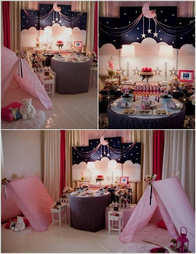 Girls Slumber Party Invitations Neon