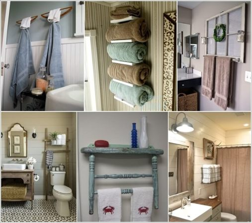 15 Cool DIY Towel Holder Ideas for Your Bathroom 15 Cool DIY Towel Holder Ideas for Your Bathroom a