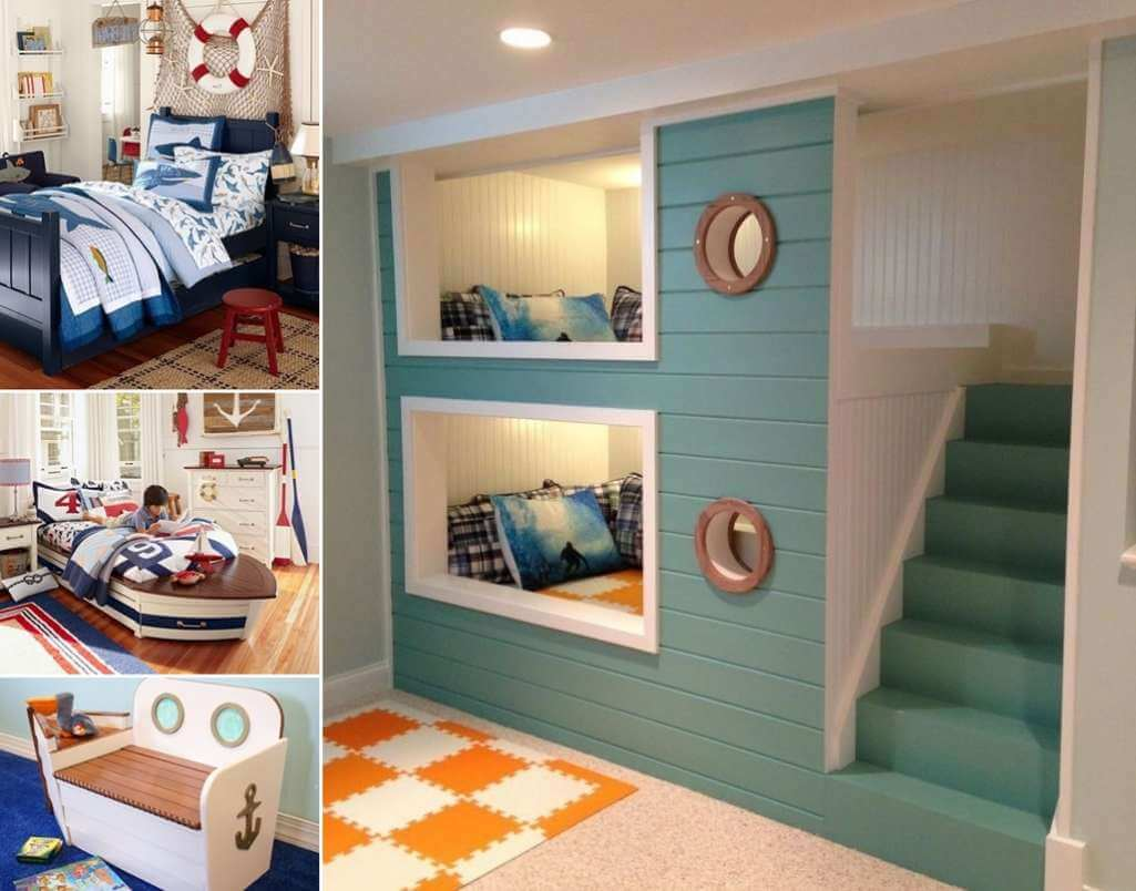 10 Cool Nautical Kids' Bedroom Decorating Ideas on Cool Bedroom Ideas For Small Rooms  id=71496