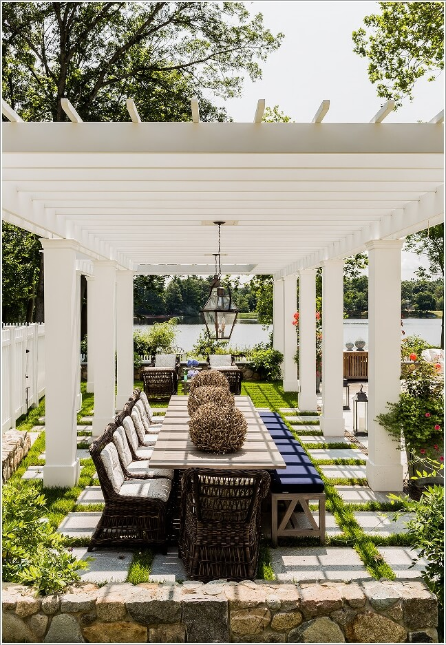10 Cool Outdoor Dining Room Floor Ideas on Backyard Dining Area Ideas id=58751