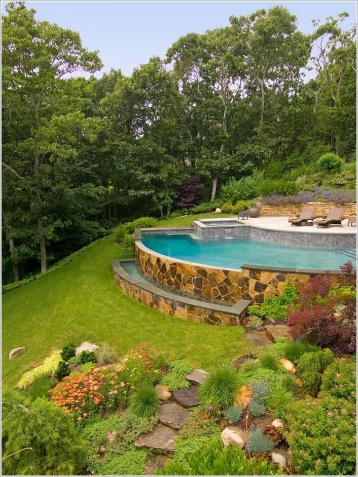 10 Wonderful Ideas to Design a Sloped Yard on Sloped Backyard Design id=63390