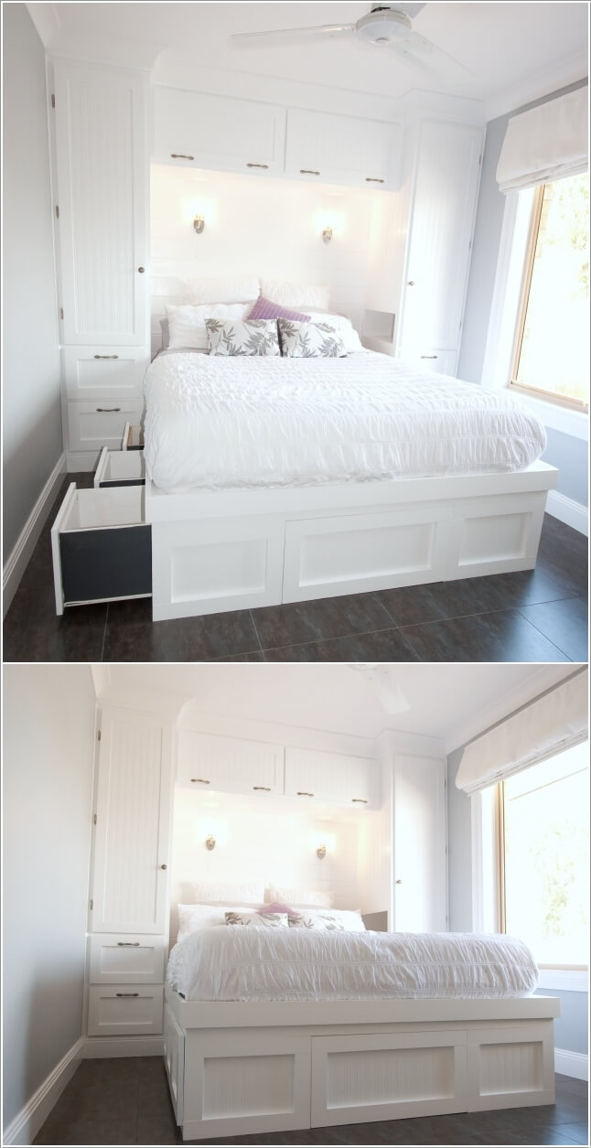 15 Clever Storage Ideas for a Small Bedroom on Room Ideas For Small Rooms  id=69596