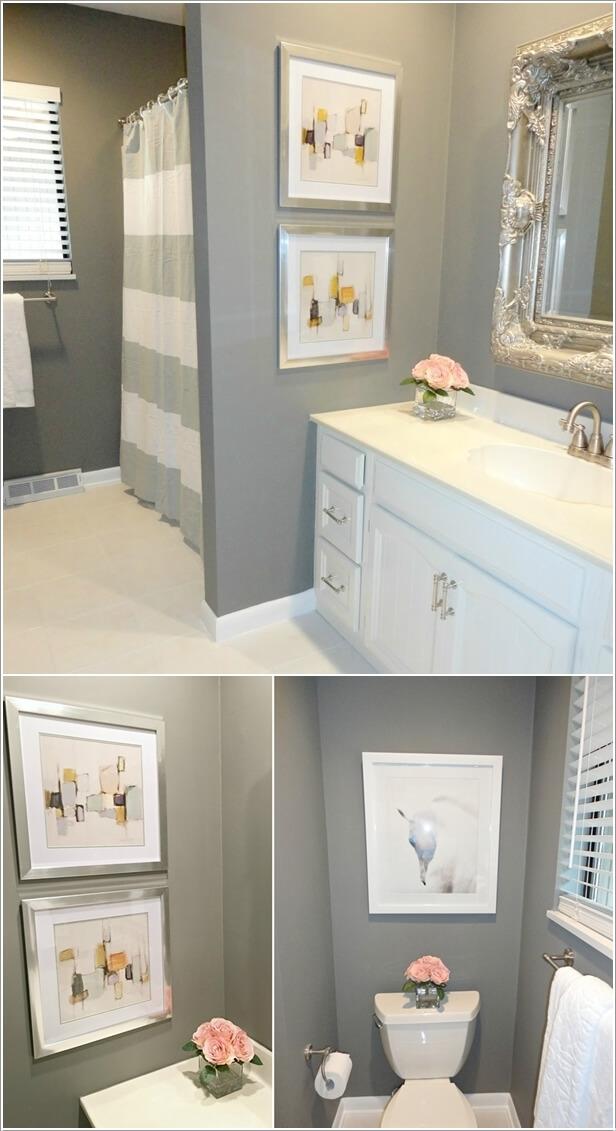 10 Creative DIY Bathroom Wall Decor Ideas - Baby Shower Ideas