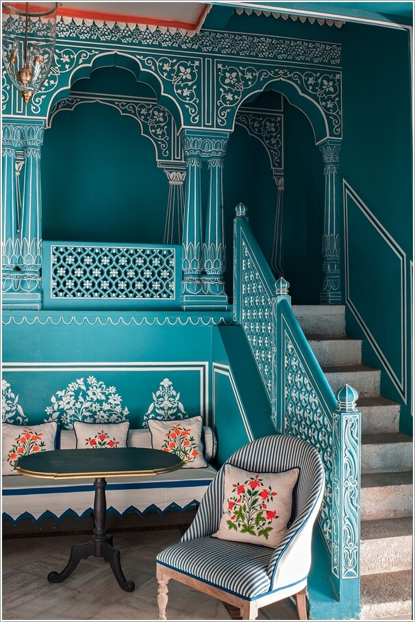 Traditional Indian Interior Design 9  Hand Painted Patterns