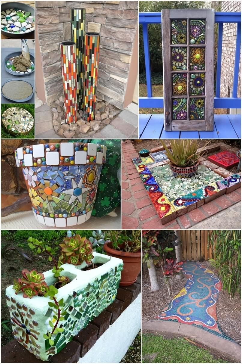 12 DIY Mosaic Garden Decor Projects on Diy Garden Decor  id=60047