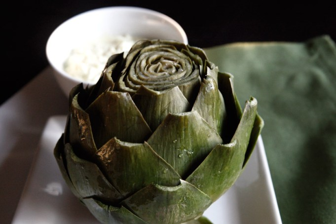Artichoke with Dipping Sauce